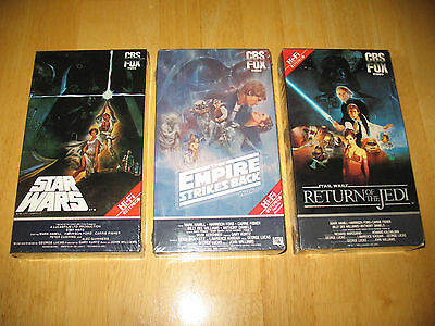 1984 1986 Cbs Fox Video Star Wars Trilogy On Beta Brand New  Sealed  Rare