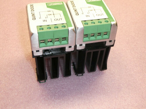 (LOT OF 2)PHOENIX CONTACT QUINT-DIODE/40 POWER SUPPLY MODULE