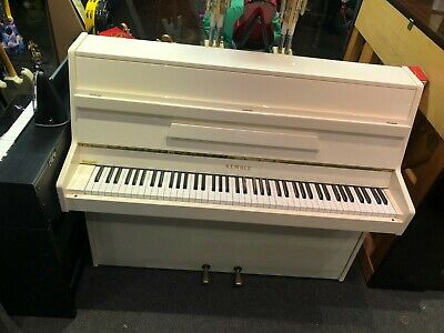 Second Hand Kemble White Upright Piano Ideal Christmas Present