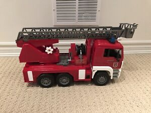Bruder Fire Engine Truck and a Crane Truck