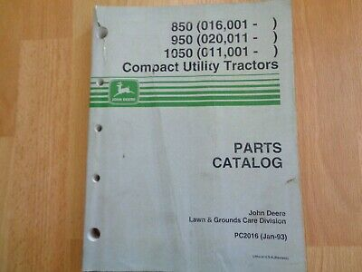 John Deere 850 950 1050 Tractor Factory Parts Catalog Pc2016 Oem