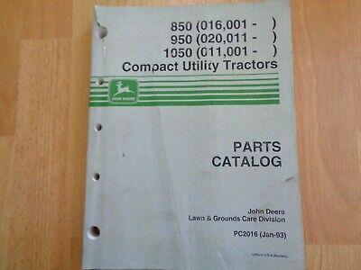 John Deere 850 950 1050 Tractor Factory Parts Catalog Pc2016 Oem