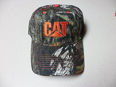 New Camouflage Caterpillar Baseball cap with Embroidered orange CAT logo hat Orange Camouflage Cap