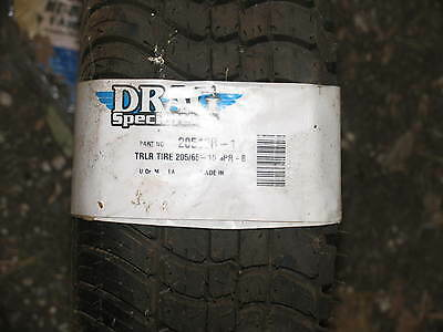 205/65-10  4 PR Drag Specialties Trailer Tire