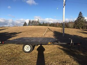 12x8 Snowmobile Trailer