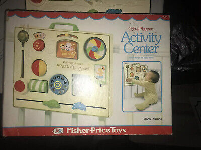 Fisher Price Discovery Interavtice Activity Center Baby Crib & Playpen 134 fun