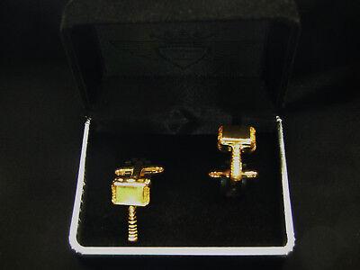 Manschettenknöpfe, 24 Karat vergoldet, Gold, Herrenschmuck, Thor`s Hammer, Thor