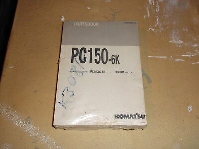 Komatsu Pc150-6k Hydraulic Excavator Trackhoe Crawler Parts Catalog Manual New