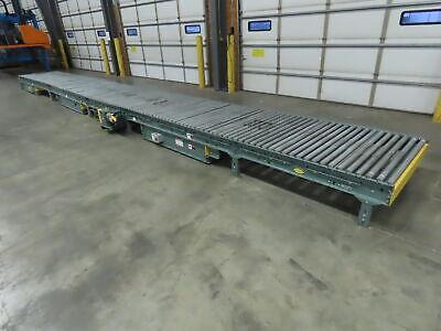 Hytrol 35 X 48 Center Drive Belt Powered Roller Conveyor Pallet Chain Transfer