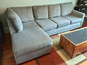 Plush lounge sofa - 3 years old - like new