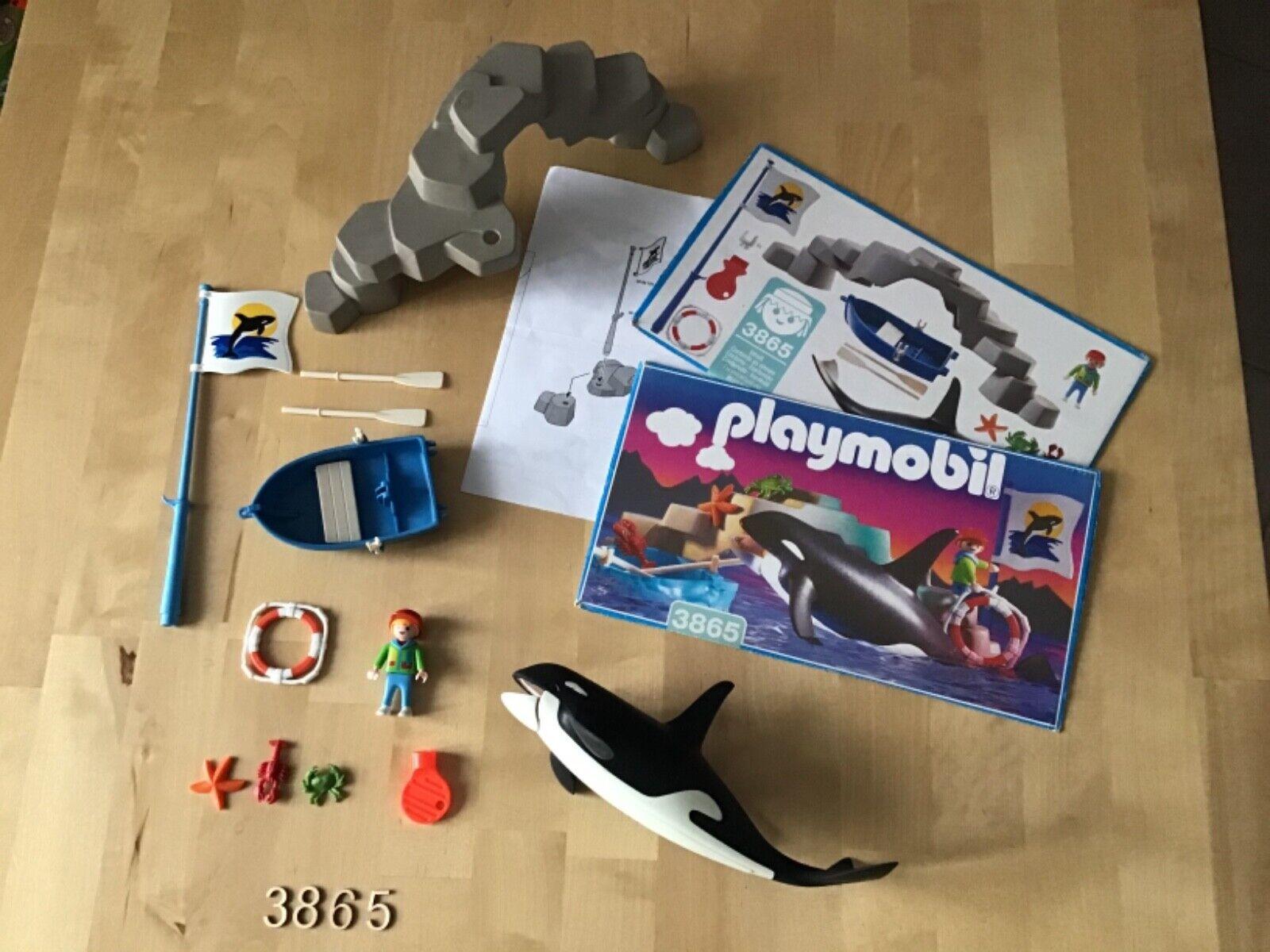 Playmobil n°3865.  orque / enfant. / barque.   complet .  . (n°1)