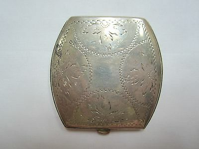 Antique Sterling Silver Compact With Mirror