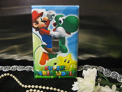 Light Switch Gfi Double Plate (Super Mario Bros. & Yoshi Light Switch Wall Plate Cover #9 - Outlet Double GFI )