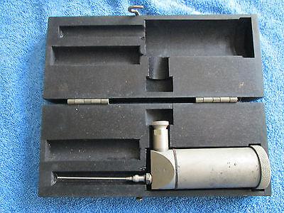 Vintage Oil gun with storage box Antique