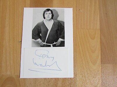 Unidentified WRESTLER 1970's  ITV Sport UK Wrestling HAND SIGNED Display no 16
