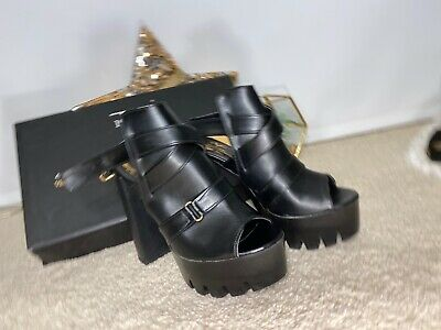 VERSACE  1969 ABBIGLIAMENTO  shoes - Size 37 Uk 4 Black