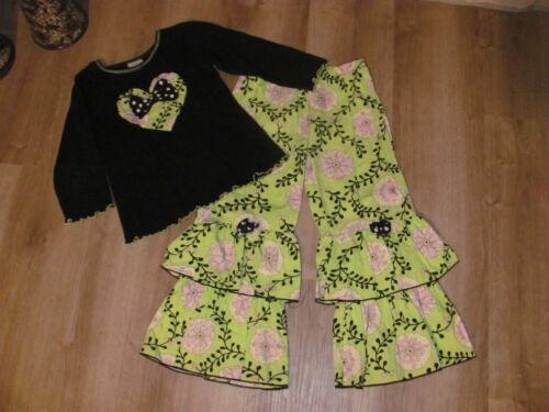 Girls Ann Loren 2 pc boutique outfit size 6 VGUC VALENTINE