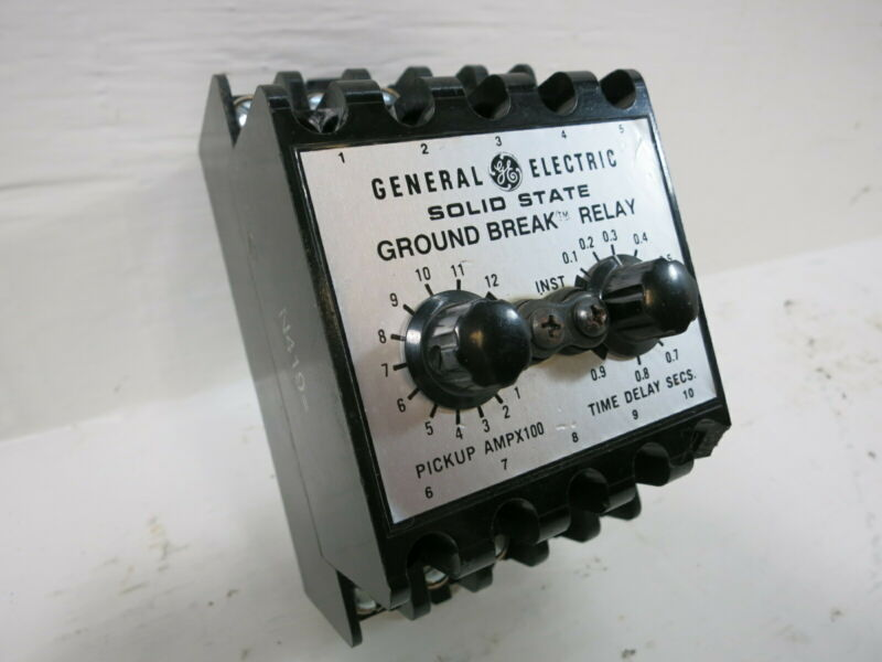 GE TGSR12 Solid State Ground Break Relay TGS General Electric TGSR