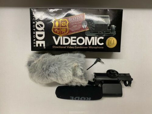 Rode VideoMic Video Condenser Microphone with wind screen shield