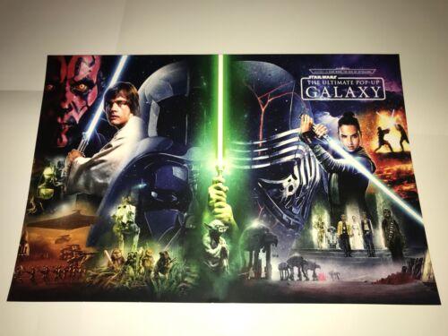 SDCC COMICCON Star Wars Collage Exclusive Kylo Rey Luke Skywalker PRINT POSTER!