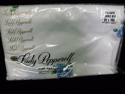 LADY PEPPERELL FINE 100% COMBED PERCALE COTTON DOUBLE BED NOS