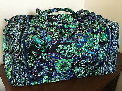 NEW Vera Bradley Large Duffel Blue Rhapsody