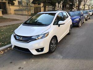 2016 white Honda Fit EX-L