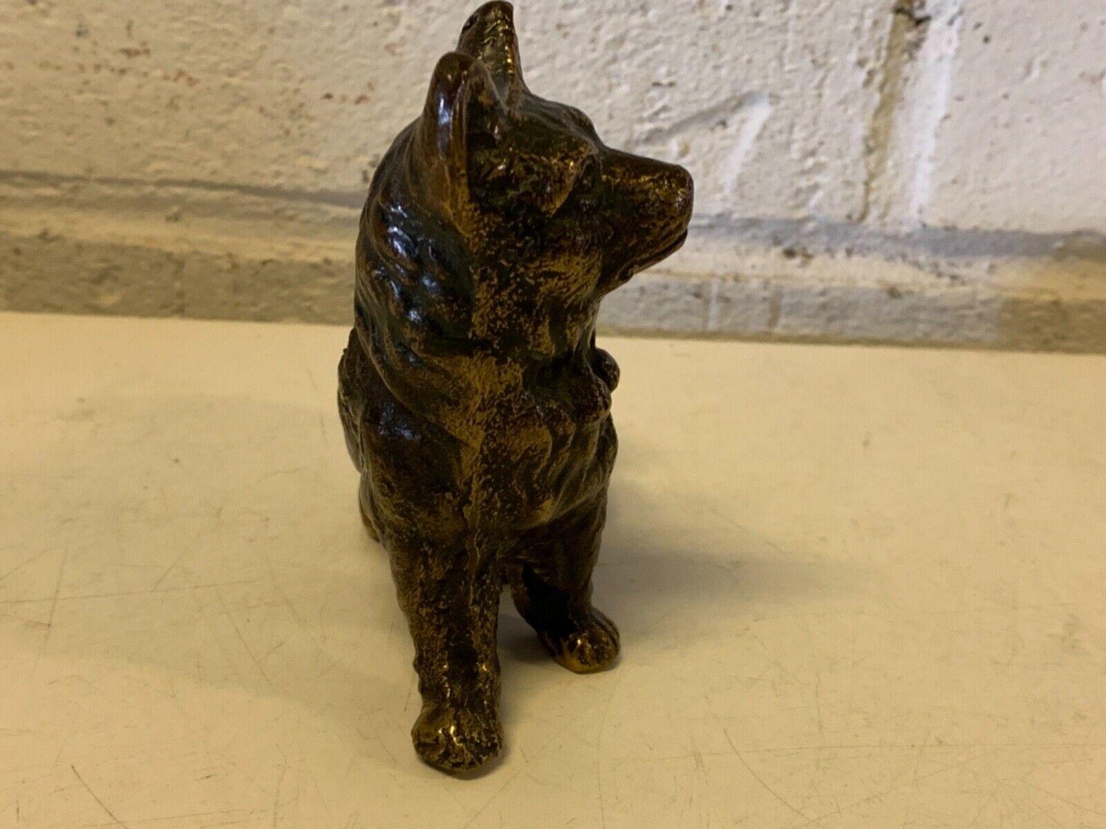 Vintage bronze berger allemand décoratif figurine chien