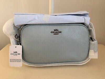 Coach Genuine Sadie Sky Blue Cross Body Convertible Clutch Bag - Brand New