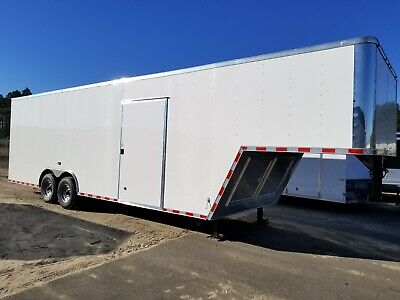 Enclosed Gooseneck Trailer 8.5x32 8.5 X 32 Ta Cargo Car Hauler 30 34