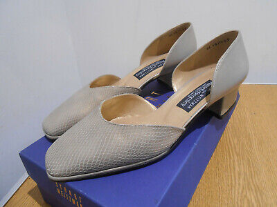BNIB Stuart Weitzman Russell & Bromley textured leather cut out court shoes...