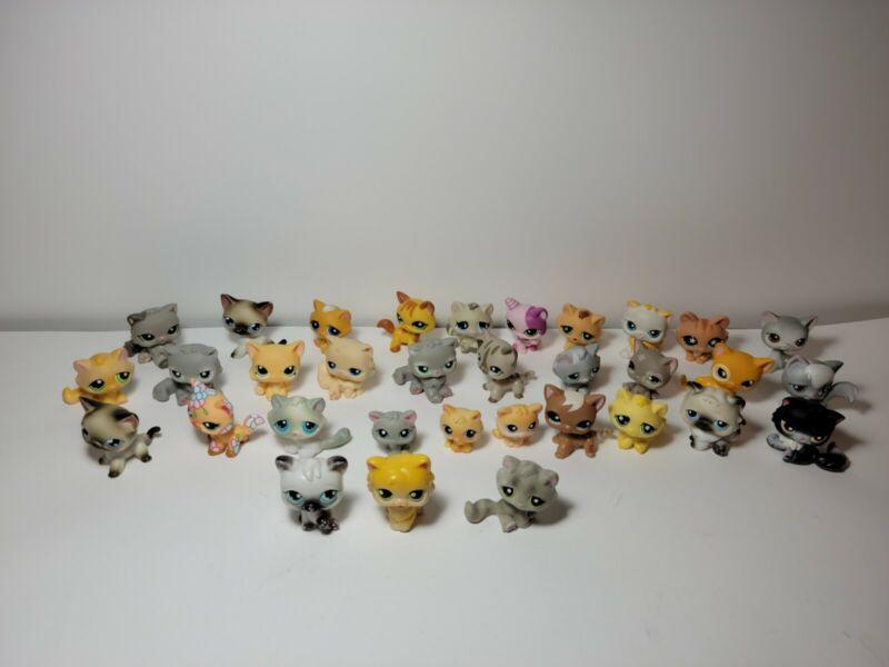 Littlest Pet Shop Lot Of 34 cats Hasbro RARE first gen cats