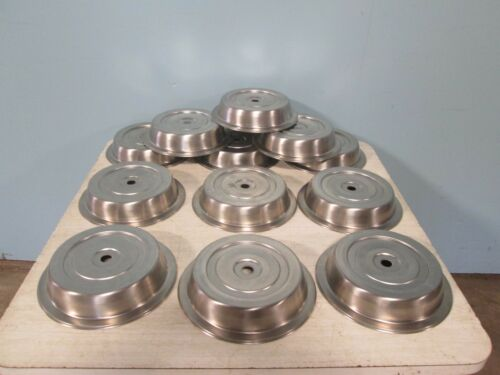 "LOT OF (12) ""VOLLRATH"" HEAVY DUTY COMMERCIAL S.S. 10¾"" PLATE DOME COVER/LIDS"