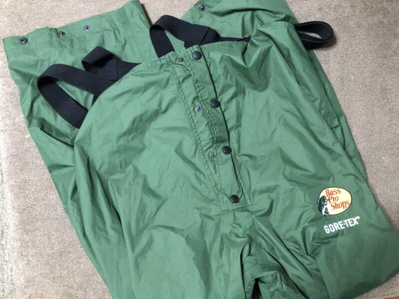 New Bass Pro Shops Gore-Tex Bibs overalls fishing/hunt pants 2XL