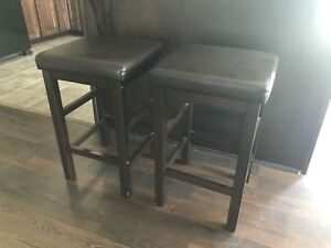 Bar stools and coffee table set