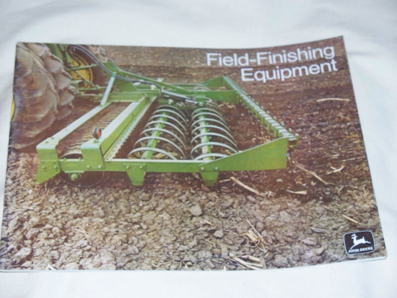 1972 John Deere Field-Finishing Equipment Brochure 7520 4230 Tractor