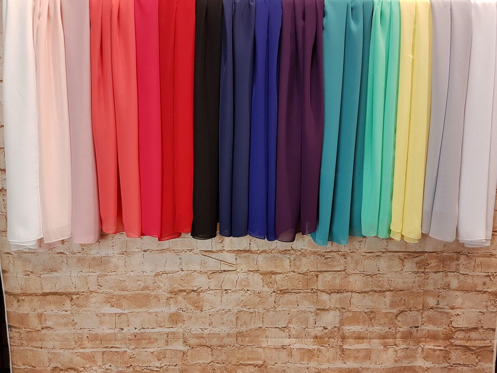 Schal Bolero Stola für Abendkleid Chiffon verschiedene Farben Schulterüberwurf