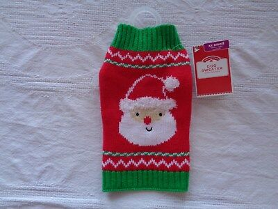 Walmart Simply Dog XX Small Holiday Time Santa Dog Sweater