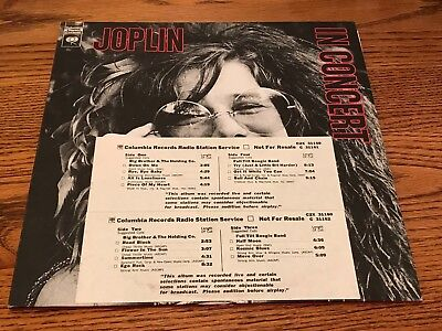JANIS JOPLIN ~ JOPLIN IN CONCERT ORIGINAL FIRST PRESS 2-LP WITH PROMO STRIP 1972 comprar usado  Enviando para Brazil