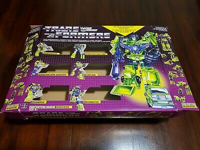 G1 Transformers Constructicons Devastator BOX ONLY + Booklet REISSUE WALMART