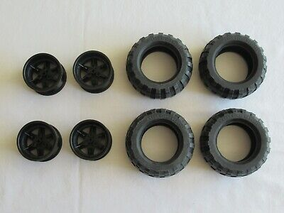 Replacement Part for Lego Technic 4x4 Crawler 9398 - 4x Tires Wheels Only