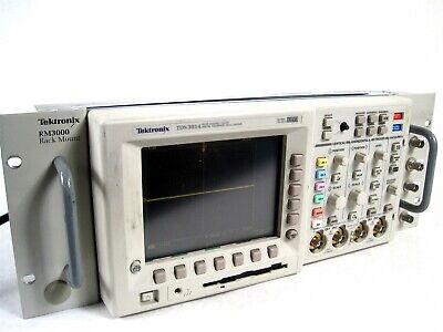 Tektronix Tds3014 Four Channel Color Phosphor Digital Oscilloscope Rm3000 Rack