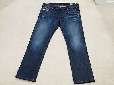DIESEL ZATINY MID RISE COTTON BUTTON FLY STRAIGHT JEAN MENS SIZE 30 WASH 0073N
