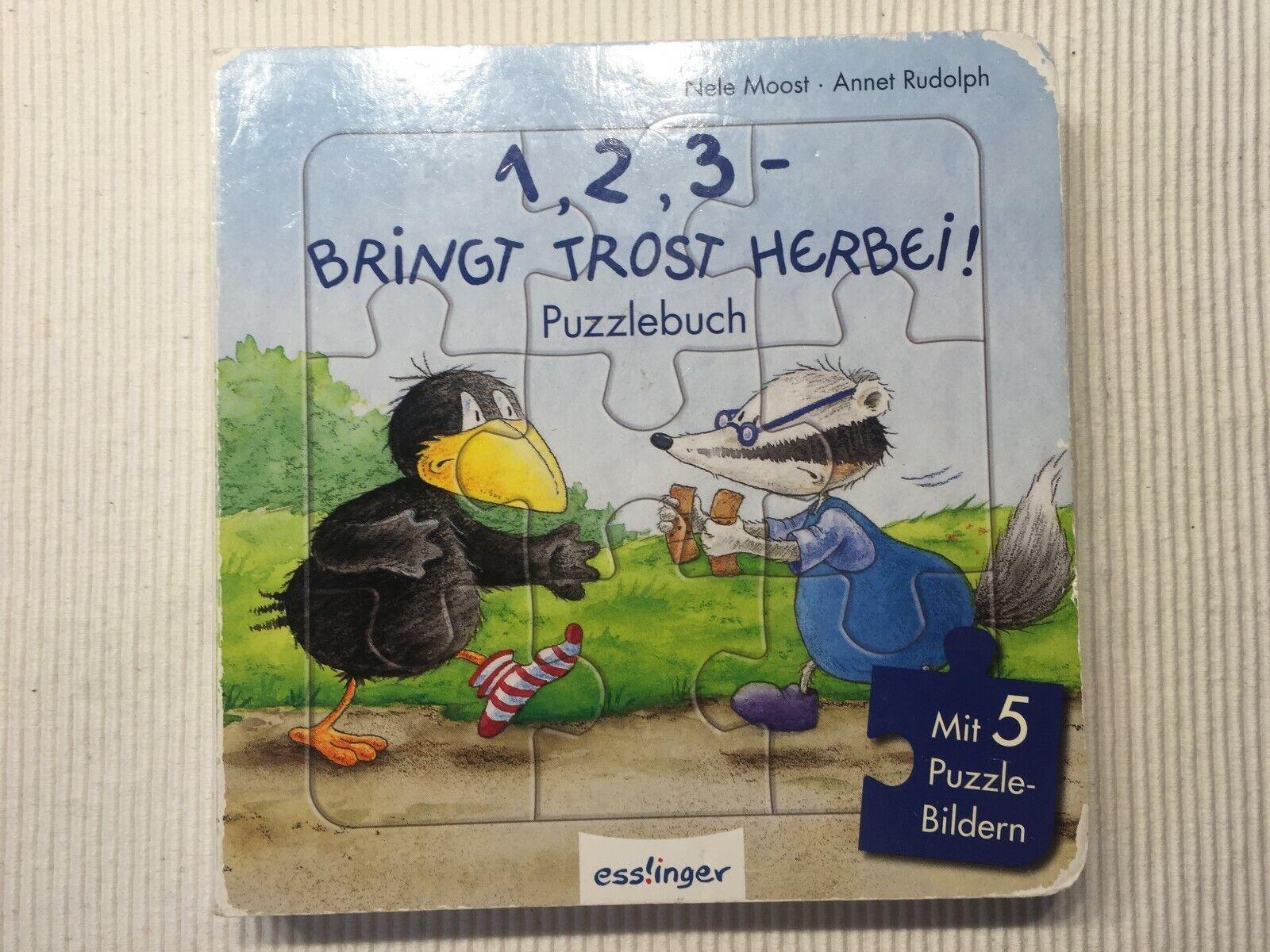 (EL) - Buch - Puzzlebuch - Der kleine Rabe Socke - 5 Puzzle - guter Zustand