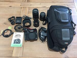 Canon EOS 500D digital SLR camera. 2 lenses with accessories. Redbank Plains Ipswich City Preview