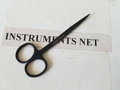 1 Supercut Iris Scissors 4.5 Curved Full Black Surgical Dental Instruments
