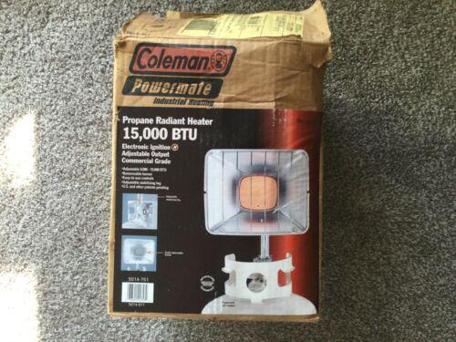 Coleman Powermate Propane Radiant Heater - VINTAGE w/ BOX & MANUALS - 15,000 BTU