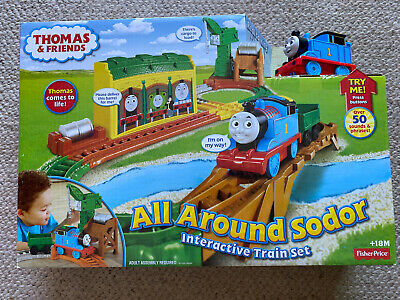 Thomas & Friends All Around Sodor Interactive Train Set Fisher-Price Brand New