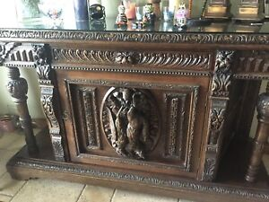 French or Neo Belgian Neo-Renaissance Sideboard