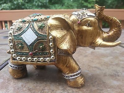 "Chinese Lucky Elephant Statue Wealth 4"" H x 6""5L"